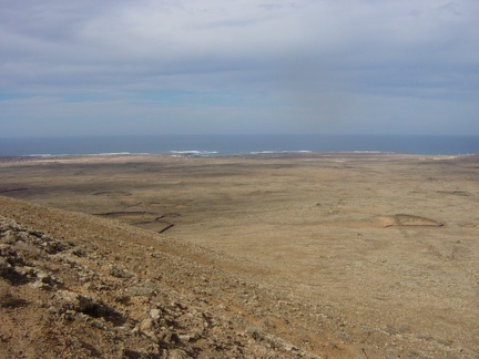 View from the crater of Lajares